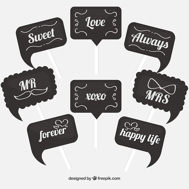 photo relating to Free Printable Photo Booth Props Words identify Picture Booth Props Vectors, Pics and PSD documents Cost-free Obtain
