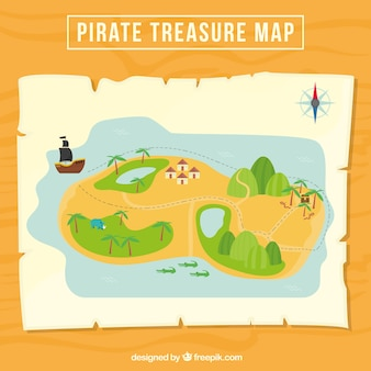 Great pirate treasure map
