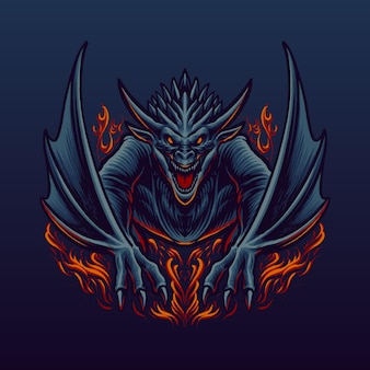 The great red dragon illustration