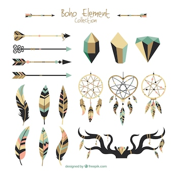 Great selection of flat ethnic elements
