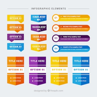 Great selection of infographic banners with different designs