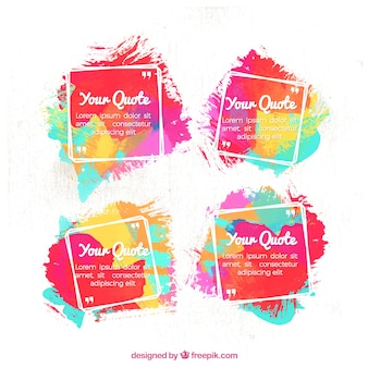 Great set of colorful quote templates