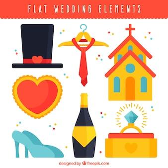 Great set of flat wedding items