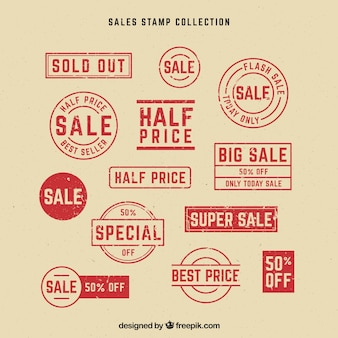 Great set of labels with special offers