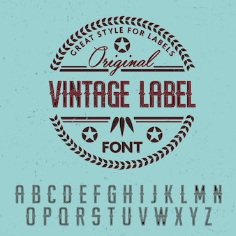 Great style for labels poster
