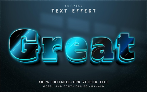 Great text, blue gradient style text effect