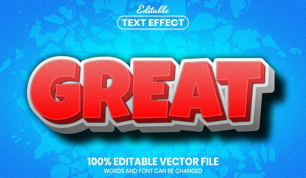 Great text, editable text effect