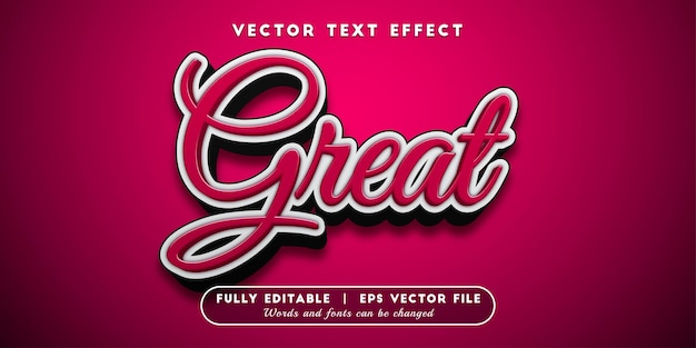 Great text effect, editable text style