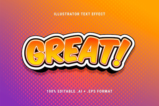 Great text effect with halftone dots