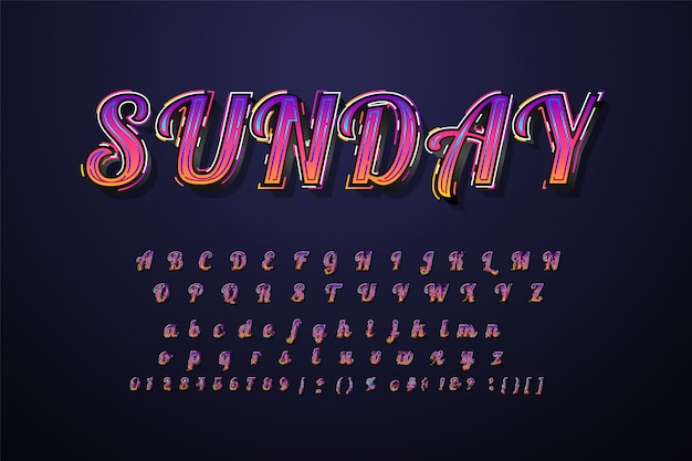 Great typeface 3d bold typography