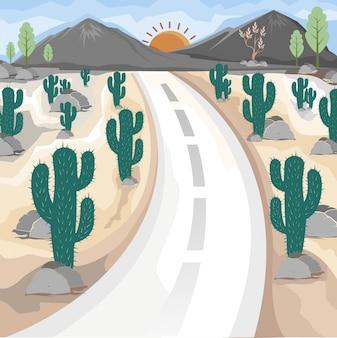 사막 선인장의 멋진 전망