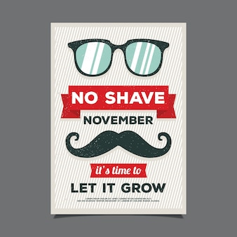 Great vintage flyer for movember