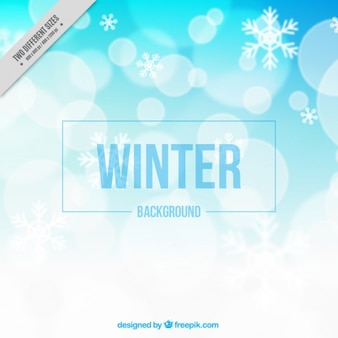 Great winter background with bokeh effect
