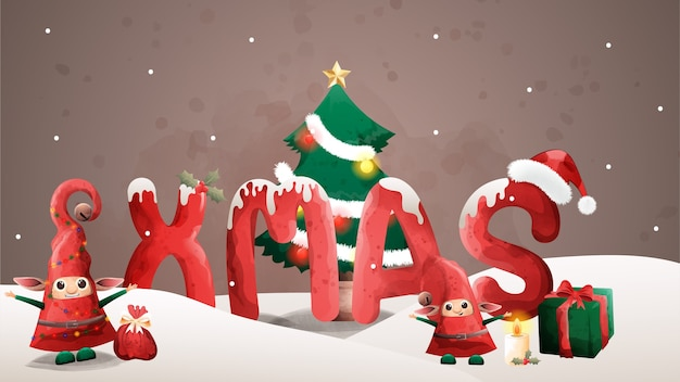 최고의 선물 크리스마스 이브 축복.