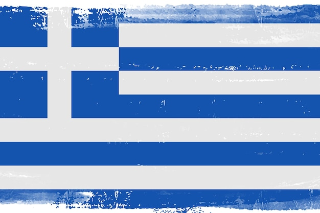 Greece flag in grunge style