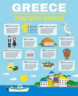 Greece infographics elements