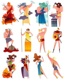 Insieme del fumetto di mitologia della grecia