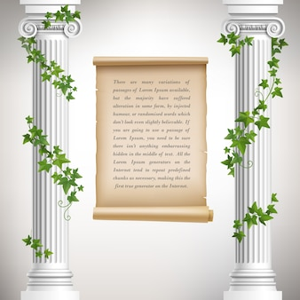 Greek columns background design