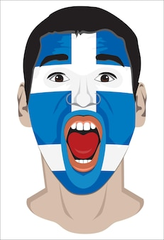ギリシャのファンの顔