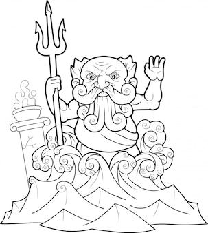 Греческий бог посейдон