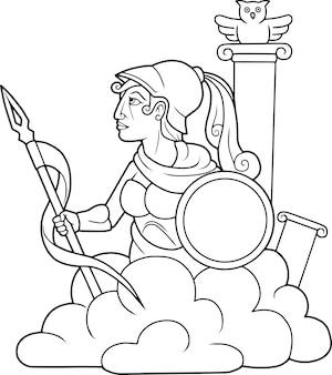 Греческая богиня афина