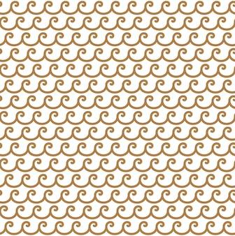 Greek golden waves seamless vector pattern background or ornament