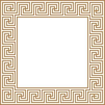Greek key border frame abstract geometric vector