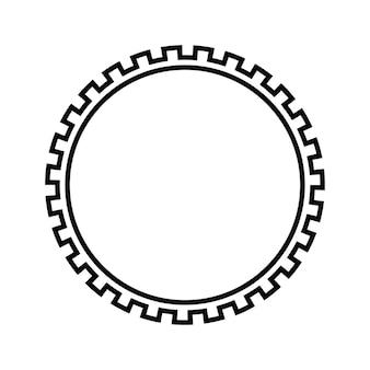 Круглая рамка для ключей с греческим рисунком. границу окружают типичные египетские, ассирийские и греческие мотивы.