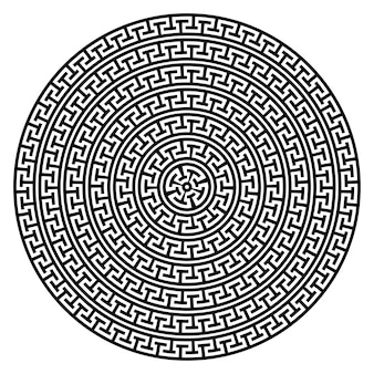 Greek key round frame typical greek motives circle border arabic geometric texture islamic art