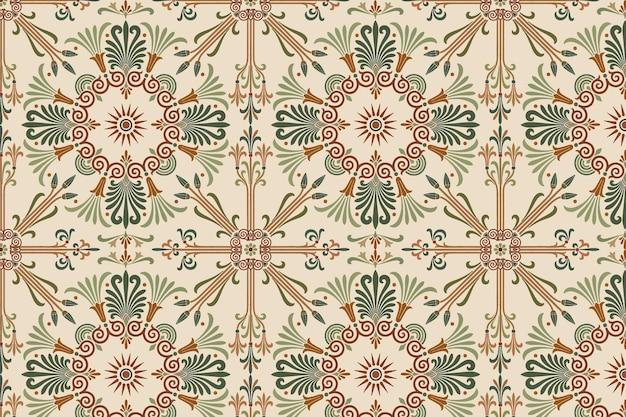 Greek key seamless pattern background vector