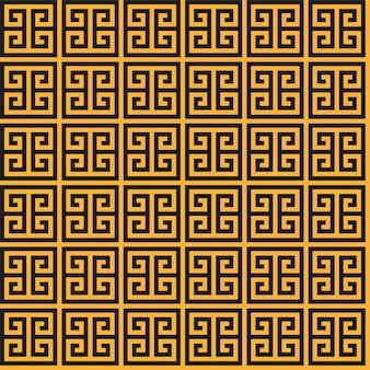 ギリシャの鍵のシームレスなパターン。幾何学的な蛇行。抽象的なベクトルヴィンテージ背景