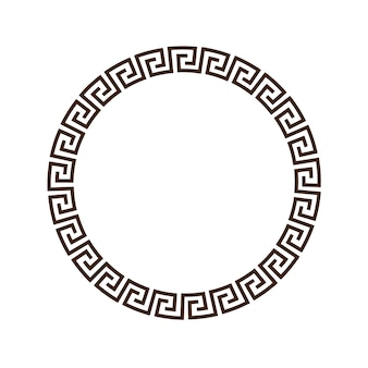 Greek round decorative frame for design