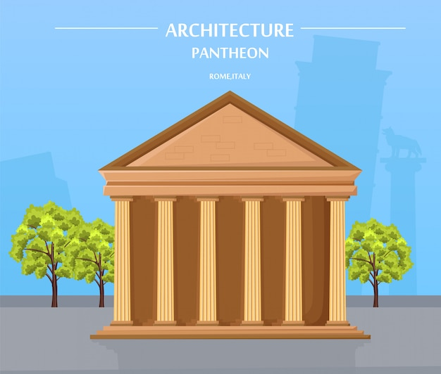Greek temple architecture and athens attraction