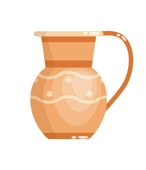 Greek vase in ancient style isolated on white