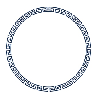 Greeke round frame for design