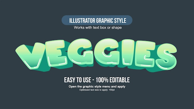 Green 3d arched cartoon typography