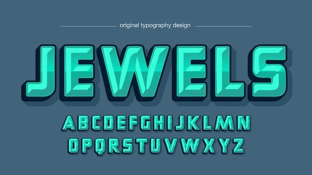 Green 3d metallic typography