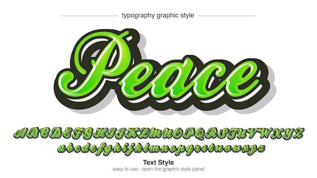 Green 3d modern calligraphy text effect
