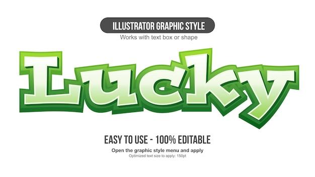 녹색 3d 현대 만화 편집 가능한 텍스트 효과