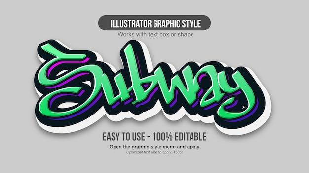 Green 3d modern graffiti text effect
