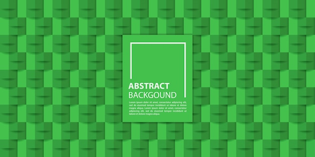 Green 3d paper style background