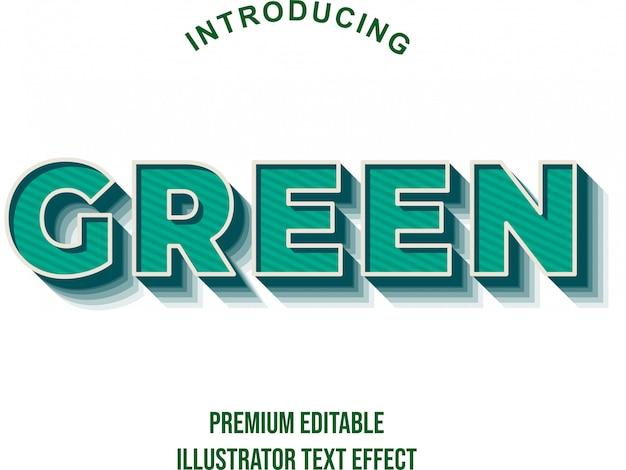 Зелёный - 3d сильный полужирный текстовый эффект иллюстратора