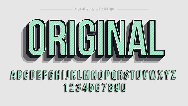 Green 3d uppercase typography