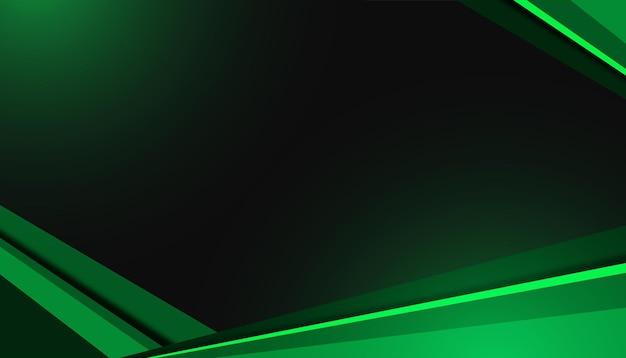 照明効果と緑の抽象的な背景