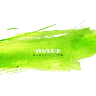 Green abstract background with watercolors