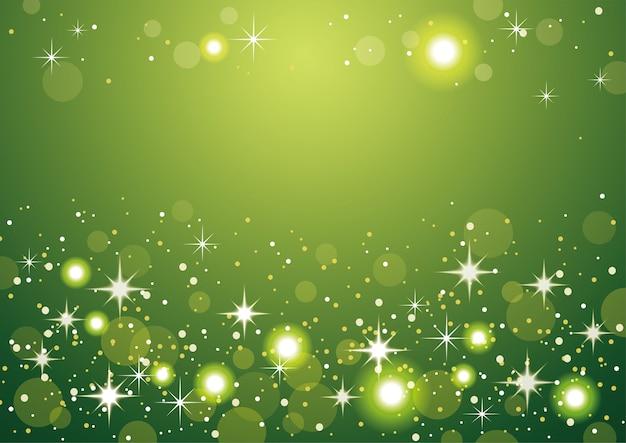 Зеленый абстрактный фон боке. рождественские и новогодние праздники