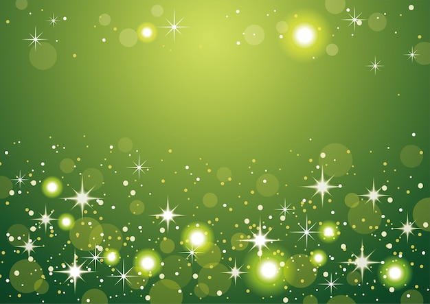 Green abstract bokeh background. christmas and new year holidays
