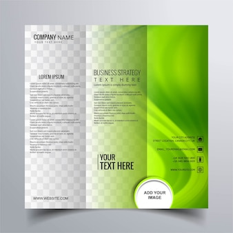 Green abstract brochure