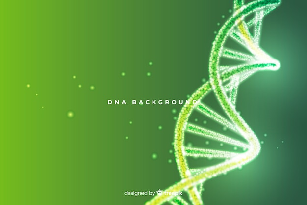 Green abstract dna structure background