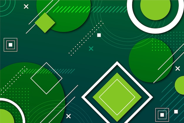 Green abstract geometric background